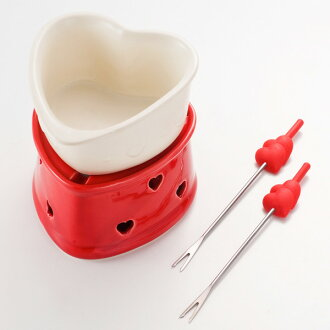 Heart-shaped chocolate fondue set fs3gm