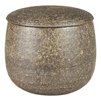 [Made in Japan] Iga firing? Ceramic rice cooker (persimmon glaze) 34-07-12-SE