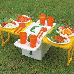 保冷力バッチリ!しかも折りたたみ式♪【記念品】テーブル付きクーラーボックス(ウイングクーラ...