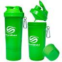 プロテインシェーカー スマートシェイク スリム 500ml ネオングリーン kss0101サプリメントケース 錠剤 ダイエット ボトル ピルケース