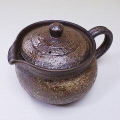 急須と茶漉しが一緒になりました!【お祝い】【日本製】萬古焼・絞り出し急須(後手)