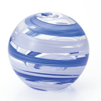 -Made in Japan-round bud vase (water balloons design) sea breeze f-71264 vases and Adelia / Ishizuka glass and glass products