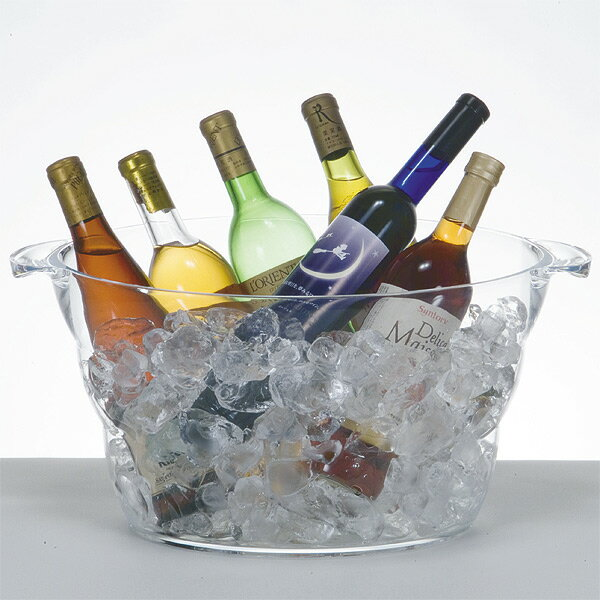 Clear wine cooler buffet tab Oval