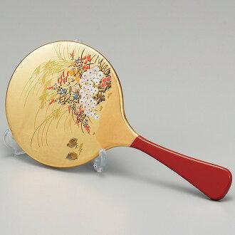 [Made in Japan] Kanazawa foil mirror-stand with (Miyabi) Maki-e Birthday / Rite of passage/ wedding / baby / birthday celebration/ Inauguration ceremony