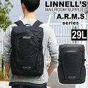 【先着順♪ノベルティプレゼント】 MICHAEL LINNELL マイケルリンネル リュック リュックサック デイパック バックパック スクエア メンズ レディース 男女兼用 黒リュック タブレットPC収納 通勤 ビジネス バッグ かばん 男性 アームズ ARMS MLAC-01