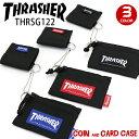 THRASHER スラッシャー 財布 ウォレット カードケース コインケース 小銭入れ メンズ レディース 男女兼用 ブラック ブルー レッド THRSG122