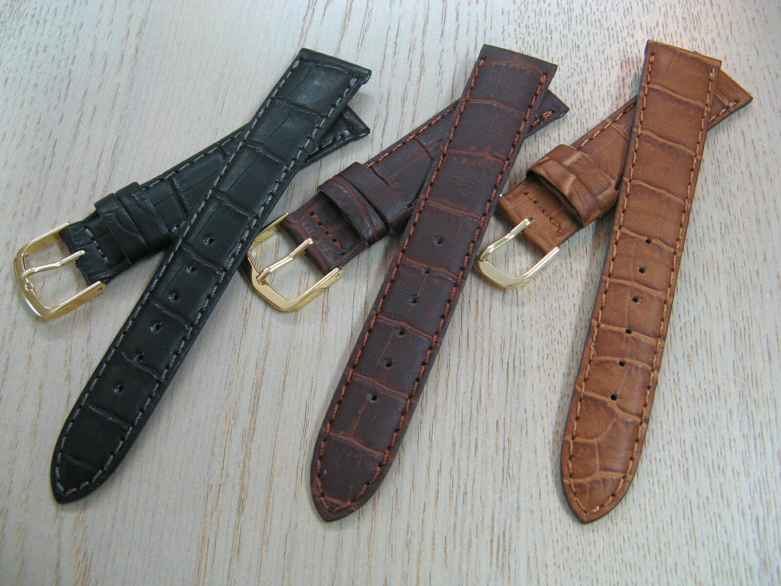 High-quality calf (cowhide) clock band mat 型押 men size