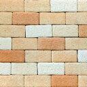 【ポイント10倍】【送料無料】【あす楽】壁紙 レンガ ブロック タイル リフォーム 簡単 軽量 外壁 かるかるブリック100枚セット ライトブラウン