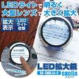 『LEDライト付き拡大鏡 smolia スモリア 3R-SMOLIA-5 ブラック