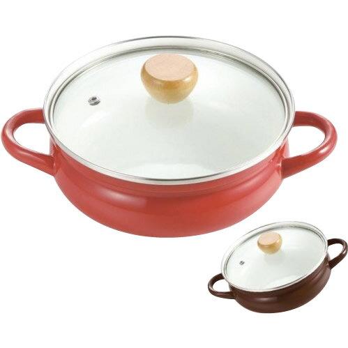 【クーポンあり】パール金属 クラディア ホーローガラス蓋よせしゃぶ鍋20cm