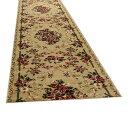 【クーポンあり】【送料無料】ウィルトン廊下敷き ロゼ 約80×240cm BE 270043524 高級感ある柄で床面を華やかに彩ります。