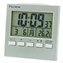 【クーポンあり】FORMIA デジタル電波目覚まし時計 バックライト付き シルバー HT-004 時刻合わせ不要の電波時計。