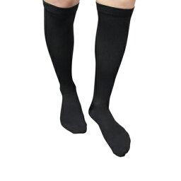 【クーポンあり】【メール便対応】【送料無料】靴下 医療用弾性ストッキング レックスフィット 男性向きハイソックス 中圧 ブラック Lサイズ1813