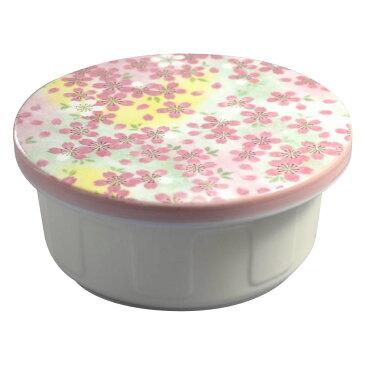 有田焼 平蓋おしゃれおひつ 1.5合 吉野桜 炊きたてごはんを美味しく保存!
