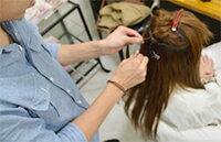 高品質3コームスソ人毛エクステ55cm(毛量3倍)w340美容室で使用されている希少価値の高い人毛100%、を使用したスソエクステ