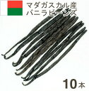 《マダガスカル産》バニラビーンズ【10本】