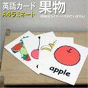 フラッシュカード(幼児)えらべる英語カード【果物】■A4サイズ ■ラミネート加工■ 英語教材 学習  ...