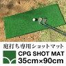 [お得なアウトレット]庭打ち専用ショットマット・CPGショットマット35cm×90cm(固定ペグ付き)【ゴルフマット・ショットマット】