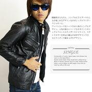 ジャケット ライダースジャケット シングル パーカー ライダース ブラック ファッション