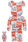 BE@RBRICKatmos×Coca-Cola100%&400%CHECKERBOARD