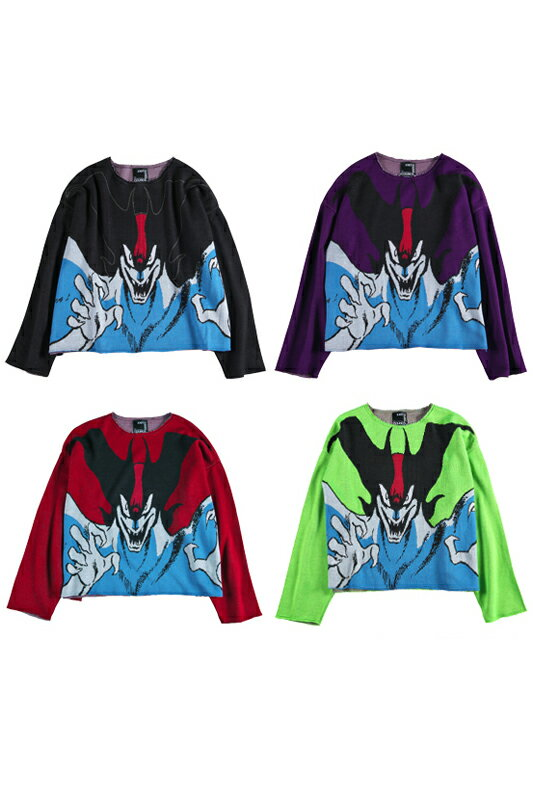 コレクション, フィギュア KNIT GANG COUNCIL CREW NECK SWEATER DEVILMAN