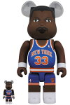 BE@RBRICKPatrickEwing(NewYorkKnicks)100%&400%《2019年11月発売・発送予定》