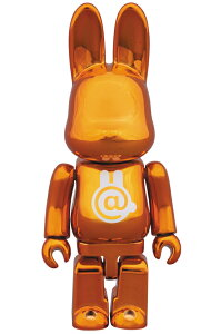 RABBIT + BE@RBRICK = R@BBRICKR@BBRICK CHROME ORANGE