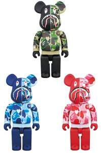 SHARK HOODIE10th Anniv.BAPE(R) CAMO SHARK BE@RBRICK 400%