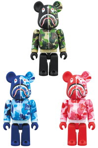 SHARK HOODIE10th Anniv.BAPE(R) CAMO SHARK BE@RBRICK 100%
