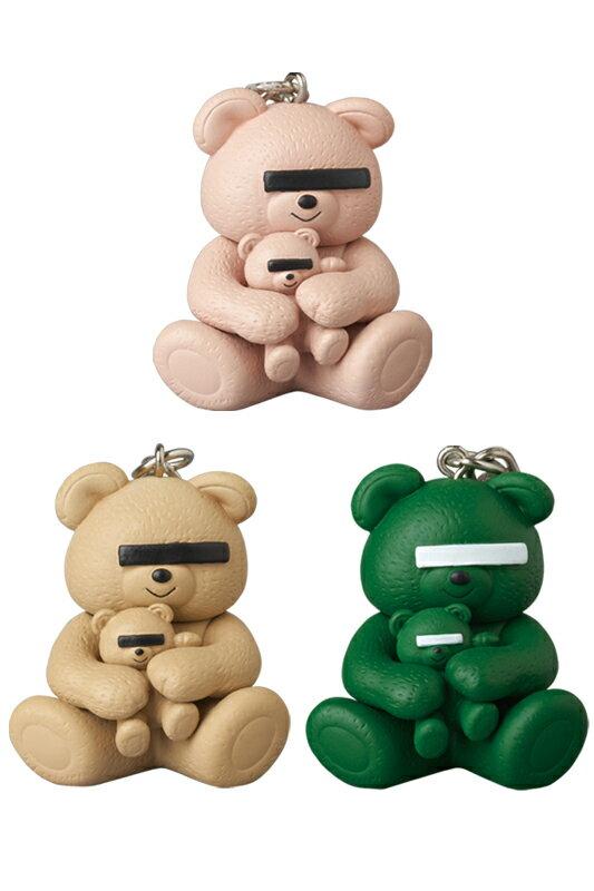コレクション, フィギュア KEYCHAIN UNDERCOVER BEAR PINKGREENBEIGE