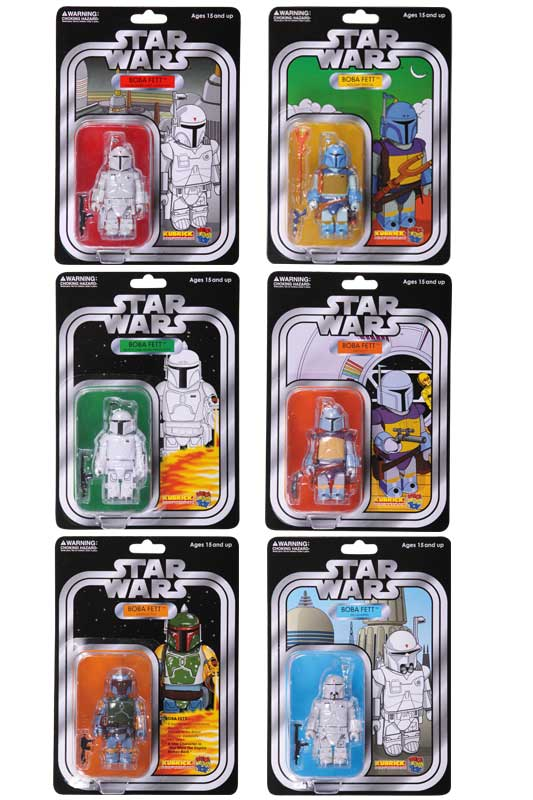 コレクション, フィギュア STAR WARS(TM) KUBRICK BOBA FETT(TM) COLLECTION SET OF 6pcs. COLLECTORS EDITION