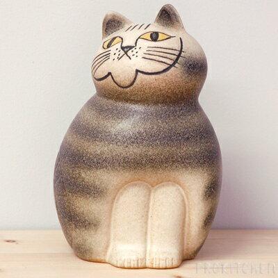リサ・ラーソン ミア ミディアム 190mm グレー / Lisa Larson Cats-Mia ※