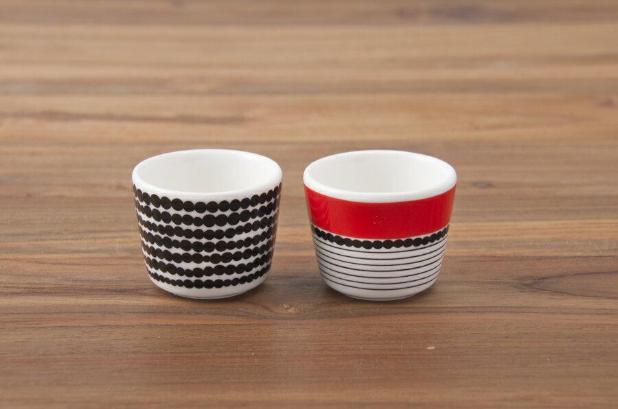 マリメッコ エッグカップ 2個セット ラシィマット / marimekko Rasymatto