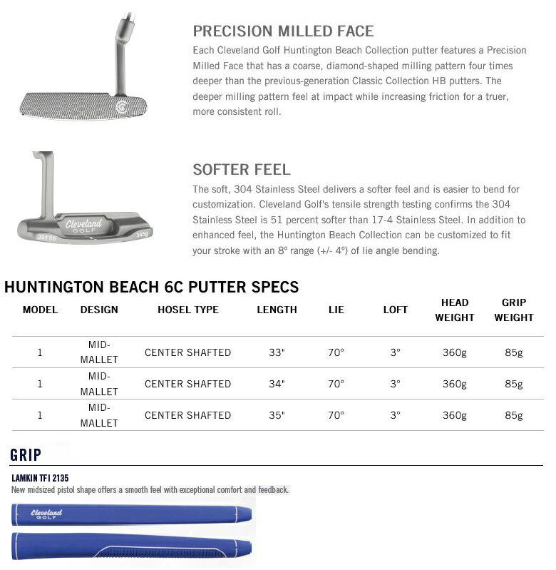Cleveland Golf Huntington Beach 6C Putter クリーブランド ハンティントン ビーチ #6 センターシャフト パター