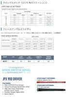 MizunoUSAJPX-900DriverミズノUSAJPX900ドライバーカスタムシャフトモデル