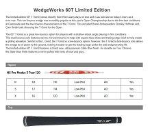 TitleistVokeyWedgeWorks60TLimitedEditionWedgeタイトリストボーケイウェッジワークス60Tリミテッドエディションカスタムウェッジ