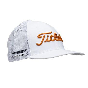 Titleist Vokey Tour Snapback Mesh Cap White/Burnt Orange タイトリスト ボーケイ ツアースナップバック メッシュ キャップ ホワイトブラントオレンジ