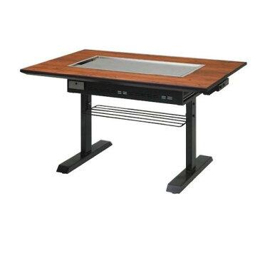 イトキン IKK お好み焼きテーブル S型 スチール脚(ガス式P) PM 1550F-SA 4人掛け LPガス(プロパン)仕様 1550・800・700(mm)