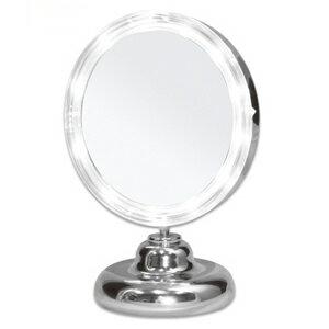 拡大鏡 5倍拡大+LEDライト付き 真実の鏡DX ミニS型 しっかり見えるから、メイクアップやお手入れがしやすいどこでも使える電池式 角度調節可 真実の鏡 DX ミニS型(かがみ カガミ ミラー 丸 メイクミラー 化粧鏡 スタンド 卓上 おすすめ オススメ 通販 楽天)
