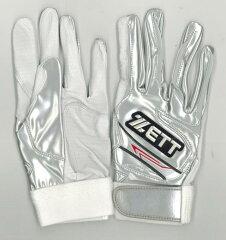 ZETT(ゼット) 20%OFF 限定プロモデル バッティンググラブ 両手組 シルバー BG396