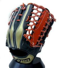 アシックス(asics):「2014・オールスターモデル」軟式外野手用グラブ・限定商品・ブラック×ゴールド×レッド