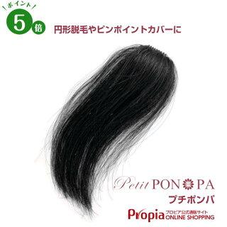 円形脱毛などに最適なピンポイント部分ウィッグ「PetitPON-PA(プチポンパ)」