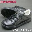 【あす楽】K-SWISSケースイススニーカーキッズ用軽量シューズKSC CL052ブラックキッズ用ズックPSsale入学準備