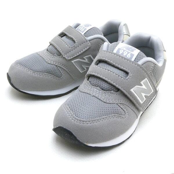 ニューバランスベビーキッズスニーカーIZ996CGYグレーファーストシューズ赤ちゃん靴幼稚園小学生