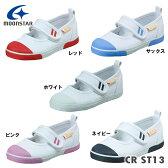 ムーンスター スニーカー キャロット CR ST13ホワイト、レッド、ピンク、ネイビー、サックス14.0〜19.5cm上履き靴幅:2E入学準備