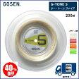 [決算セール] GOSEN ゴーセン バドミントン・ストリングスG−TONE5 200m 40%OFF