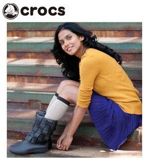 [Crocs 日本真正鱷魚 (CROCS) 超模壓編織靴女裝