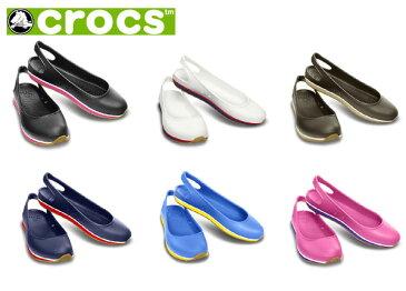 【クロックスジャパン正規品】 クロックス(crocs) クロックス レトロ スリングバック フラット ウィメン(crocs retro slingback flat w) 【メール便NG】【crocssale】