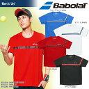 バボラ Babolat テニスウェア ユニセックス SHORT SLEEVE SHIRT ショートスリーブシャツ BTULJA14 2018SS[ポスト投函便対応]