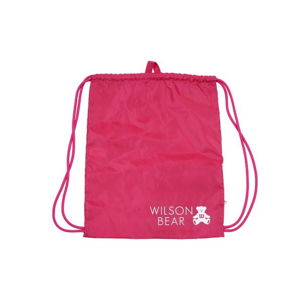 【エントリーでポイント10倍▼〜10/1 9:59】ウイルソン Wilson テニスバッグ・バドミントンバッグ・ケース ONE BEAR CINCH BAG PINK ナップサック WR8008503001